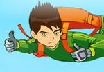 игра Бен 10 обстрел на парашюте