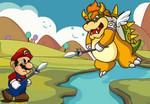 игра Марио защищает принцессу