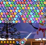 игра Рождественский стрелок пузырями
